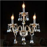 ヨーロッパ式の水晶壁ランプの贅沢な寝室の枕元の壁の通路KTVの蝋燭K9の水晶壁ランプ1/2/3ヘッド壁ライト