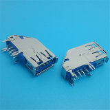 최고 판매 90 도 위원회 마운트 USB 소켓 또는 연결관