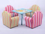 Segeltuch-hölzernes Rahmen-Kind-Sofa/Kind-Möbel (SXBB-13-01)