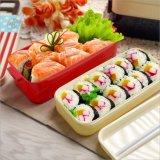 Contenitore di alimento di plastica della casella di pranzo di Bento con le bacchette 20101