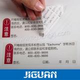 Het Embleem die van de douane Tamperproof Afgedrukte Sticker van het Etiket van de Veiligheid afdrukken