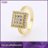 ローズの金張りの方法ジルコニアの宝石類のリング