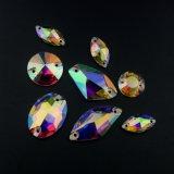Vlak AchterKristal naaien-op de Parels van het Glas van de Steen voor het Maken van het Kledingstuk