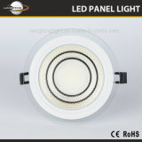 Ronda 15W LED Downlight empotrable de cristal de la COB Panellight