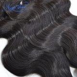Оптовые Unprocessed бразильские пачки & Frontal человеческих волос девственницы объемной волны