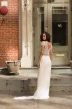 Amelie Rocky 2018 Suite Beach Chiffon vestido de casamento com rebordo