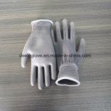 Trabajo de alta calidad de poliuretano gris Palm Guantes de trabajo