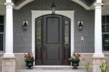 Portello di entrata principale anteriore di legno della noce interna dei ciechi di vetratura doppia