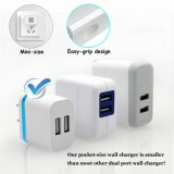 iPhone를 위한 5V 2.0AMP Dual USB 2 포트 Easy Grip Home Travel Charger Power Adapter