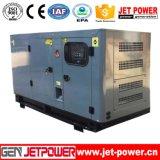 el generador diesel del recinto sano de 40kVA 30kw con el móvil rueda el acoplado