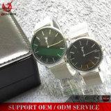 Yxl-480 선전용 최신 판매 스테인리스 메시 결박 시계 호화스러운 실업가 남자의 날짜 또는 일 석영 시계