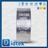 Didtek API 6D Aufzug-Oblate-Rückschlagventil des Edelstahl-F316