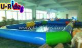 옥외에 있는 다채로운 팽창식 수영장