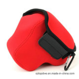 La macchina fotografica su ordinazione del neoprene di colore protegge il sacchetto del manicotto di caso con l'urto resistente