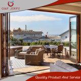 Portelli di alluminio del patio interni/portello scorrevole di vetro di piegatura doppio esterno del portello