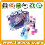 Container van het Tin van het Metaal van de Doos van de rechthoek de Kosmetische voor de Verpakking van de Lippenpommade