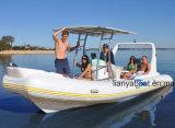 6.6M Liya Casco rígido Militar Barcos insufláveis barcos bote de fibra de vidro