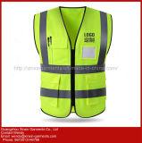 Dupla Camada personalizados colete de segurança reflexivo, Segurança reflexivo Veste roupas de segurança reflexivo (W414)