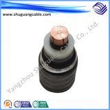 Yjv42 4+1 сердечники XLPE изолировали обшитый PVC толщиной силовой кабель стального провода Armored
