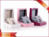 Boîtes-cadeau en bois roses de luxe de cadres en bois de bijou pour le bijou de mode