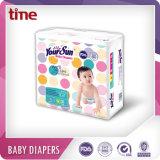 Uma boa qualidade respirável Fraldas para bebés macio e seco com a ISO, FDA, SGS, certificado BV