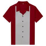 Los adultos de último diseño clásico de mejor calidad de los hombres de color marrón camisetas de Bowling