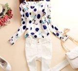 Втулки печати Graceladies женщины рубашки шифоновой длинней шифоновые
