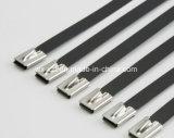 PVC에 의하여 입힌 스테인리스 케이블 Zip는 공 자물쇠를 맨다
