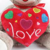 Auditoria BSCI recheadas de fábrica e brinquedos de pelúcia urso com coração para o Dia dos Namorados