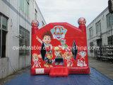 Castello di salto del Bouncer del cane rosso gonfiabile