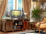 Испанский классический роскошный стол комнаты изучения твердой древесины