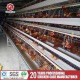 Jaula automática de la capa del pollo de la granja avícola de Uganda