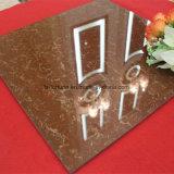 Do material de construção dobro do carregamento de Bulatti da cor do café telhas de assoalho Polished da porcelana