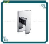 Misturador inoxidável fixado na parede do chuveiro do banheiro do punho da placa de aço dos mercadorias sanitários único