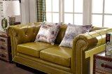 Sofa en cuir moderne et divans de salle de séjour de meubles neufs de maison