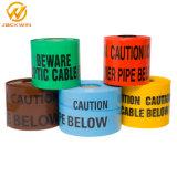 Fita de cuidado amarelo ou vermelho, fita de aviso de perigo