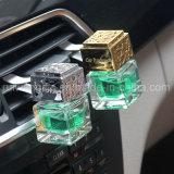 8ml svuotano la bottiglia di profumo quadrata dello sfiato dell'automobile, bottiglia della bevanda rinfrescante di aria con la protezione di legno