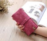 熱い販売の韓国のレトロの札入れ2の長い財布の女性札入れ