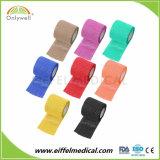 Algodão Non-Woven Sport coesas bandagem elástica 2,5cm*4,5 m