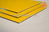Goldgoldener silberner Pinsel aufgetragene Aluminiumzeichen-Substratfläche für System-Vorderseite