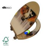Bisagras de cierre suave colorido diseño Fastion Asientos WC de madera
