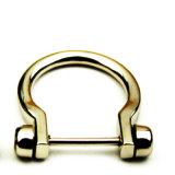 A curvatura quente do anel-D da liga do zinco do metal da venda para o saco parte os acessórios dos bens do couro de sapatas da curvatura de correia (BL185)