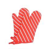 면 마이크로파 방어적인 빨간 오븐 Mitt 줄무늬는 오븐 장갑을 인쇄했다