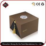 коробка подарка логоса конструкции упаковывая с рециркулированным материалом