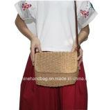 De Zak van de Jute van de Zak van het Strand van het stro voor Vrouwen Milieuvriendelijke en Natuurlijke Materiële Dame Shoulder Bag
