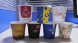 4 Koppen van het Document van oz ~24 Oz de Beschikbare met Plastic Deksels voor Hete/Koude Drank