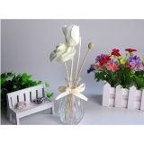 가정 갈대 유포자 선물 세트를 위한 Sola 인공적인 꽃 그리고 방향 기름을%s 가진 아름다운 둥근 유리 그릇