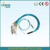 Mpo-MPO Kabel die van de Boomstam van de Vezel de Optische Patchcords assembleren