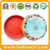 Caja redonda cosmética del estaño del metal para el ungüento del cuidado de piel