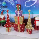 Cajas de cartón del embalaje del papel de regalo de día de fiesta de la Navidad